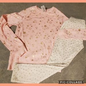 Size 14 star sweatshirt and joggers peachy pink